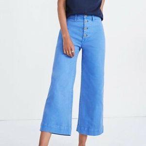 Madewell Emmett Wide-Leg Crop Pants Button-Front